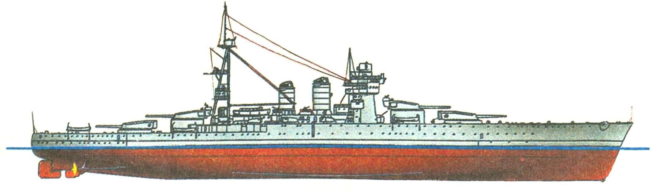 227. Линейный корабль «ДЖУЛИО ЧЕЗАРЕ», Италия, 1914/1938 г.