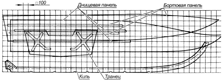 Раскрой элементов корпуса (материал - листовая сталь толщиной 1,5 мм)