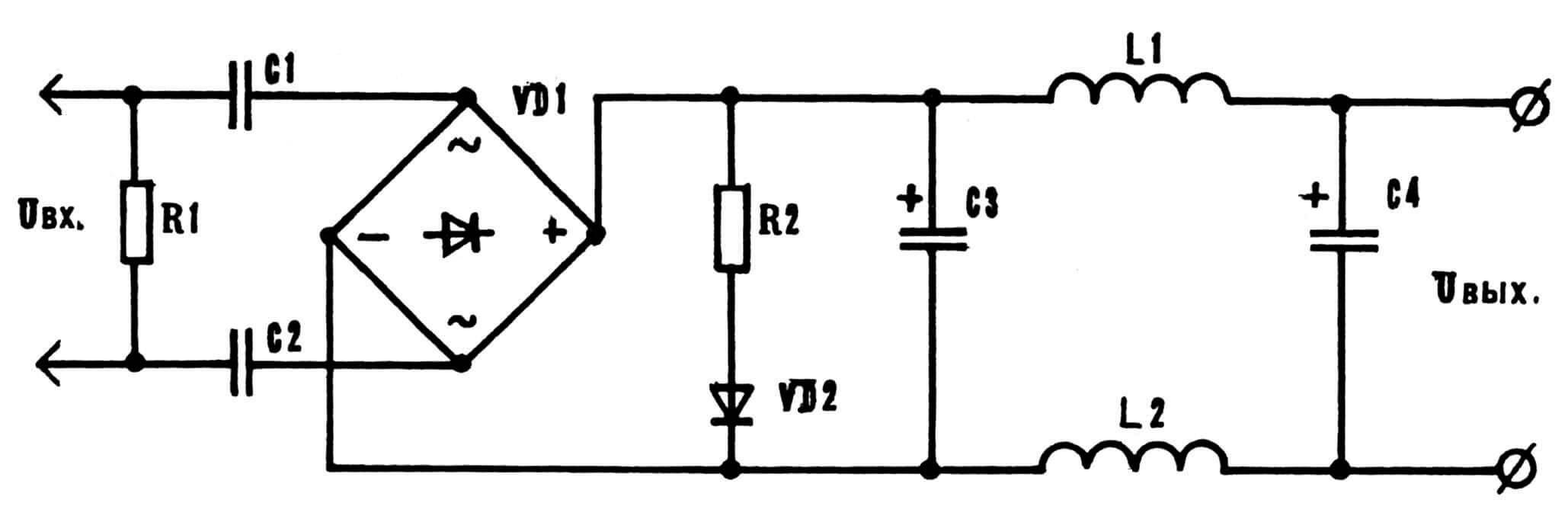 Принципиальная электрическая схема «всеядного» энергоблока.