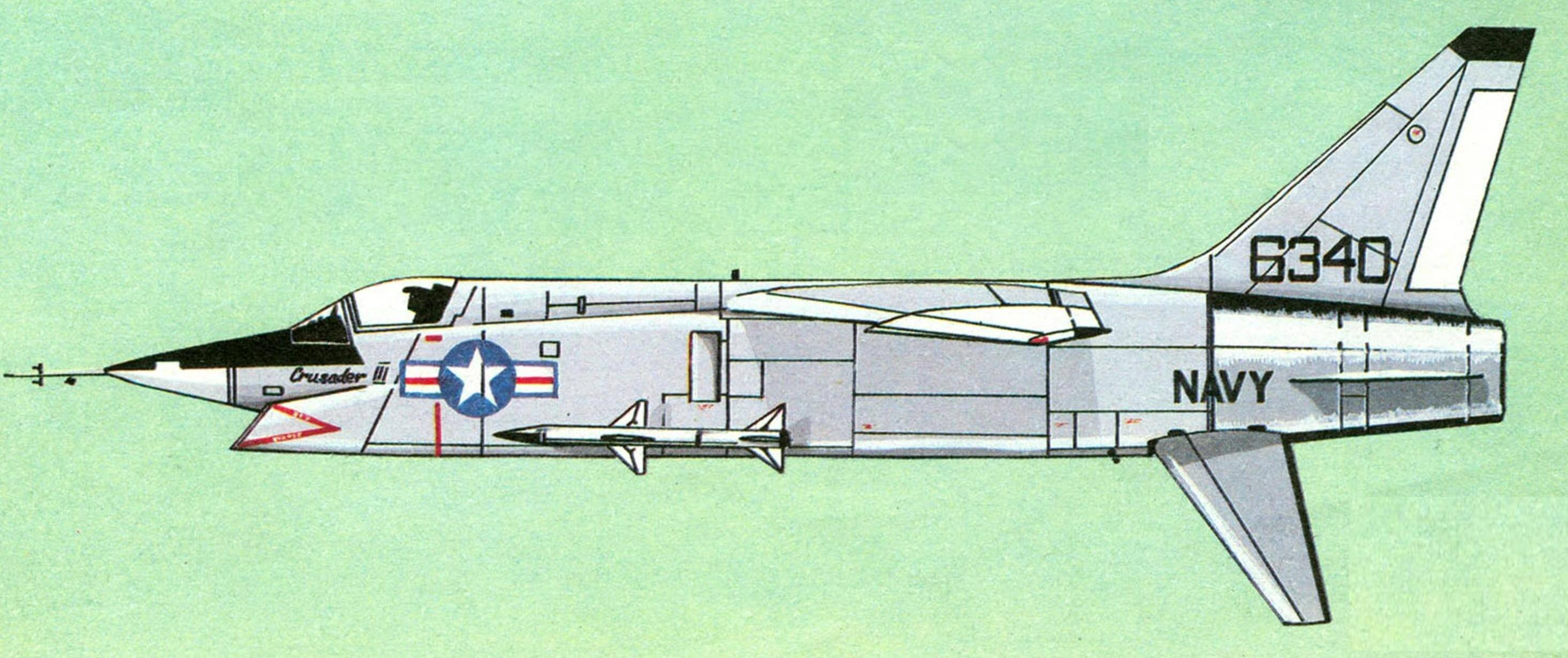 XF8U-3 «Crusader-III», опытный образец.