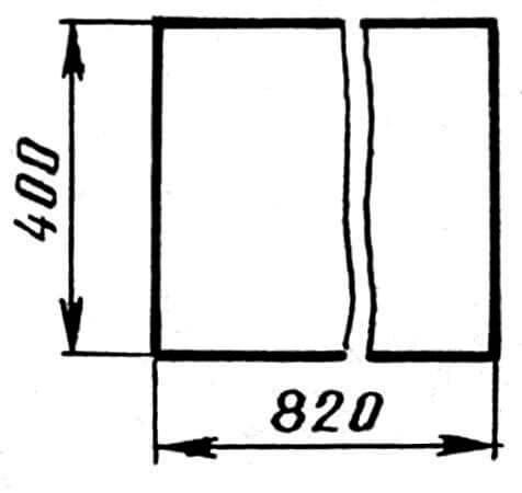 Рис. 2. Днище кровати (фанера толщиной 10 мм)