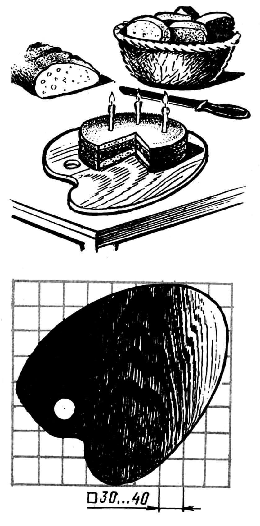 Рис. 3. Разделочная доска-палитра» (фанера толщиной 12 мм).