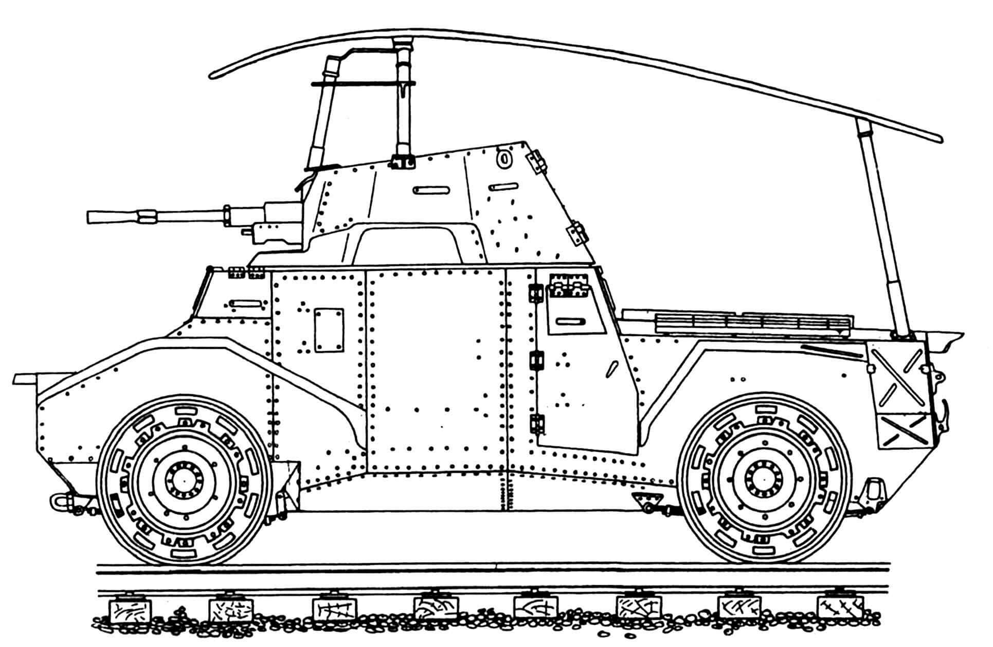 Pz.Spah.204 (f) в варианте бронедрезины.
