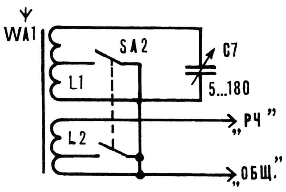 Рис. 4. Принципиальная электрическая схема приемного блока.