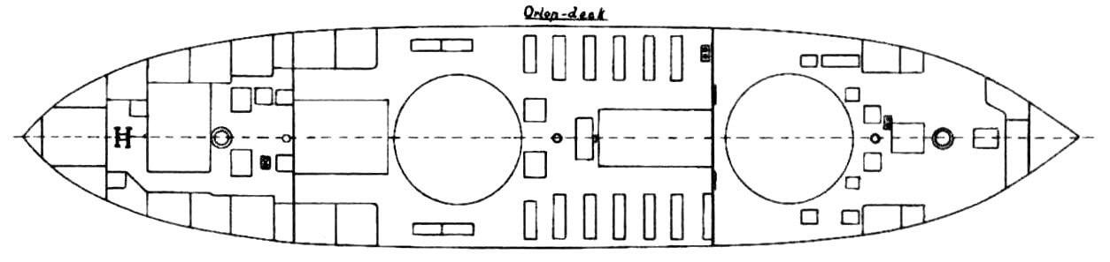 План главной палубы