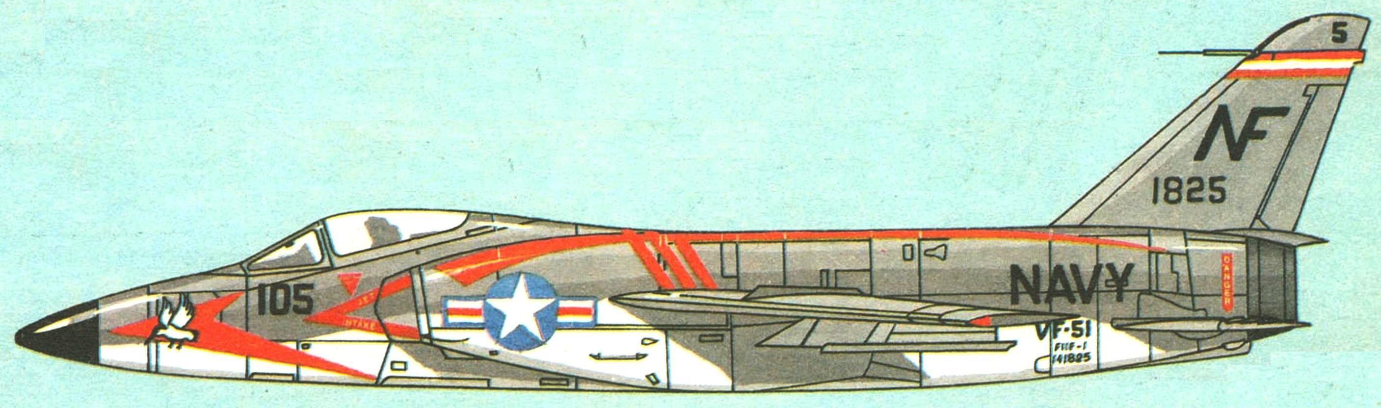 Самолет эскадрильи VF-51, авианосец «Ranger», 1958 г.