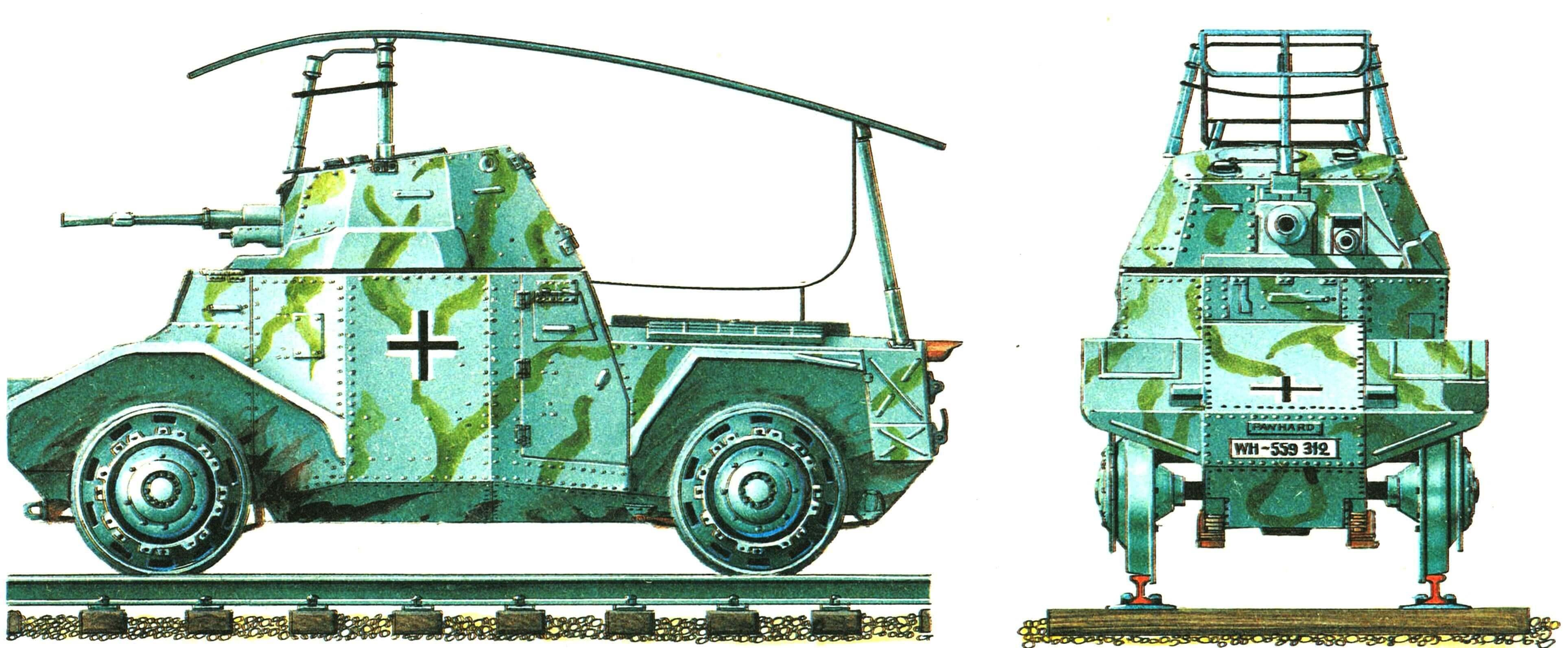 Бронедрезина Pz.Spah.204(f). Восточный фронт, 1942 год.