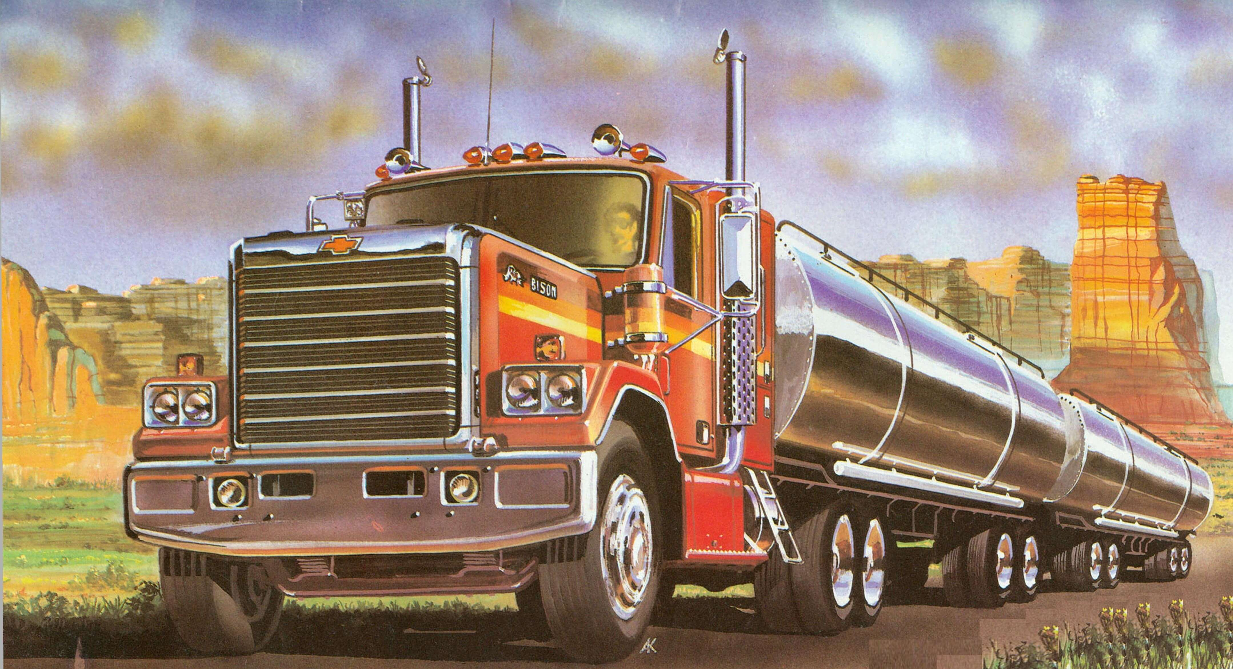 ЧИСТО АМЕРИКАНСКИЙ ПОДХОД (Тяжелый грузовой автомобиль CHEVROLET «BISON»)