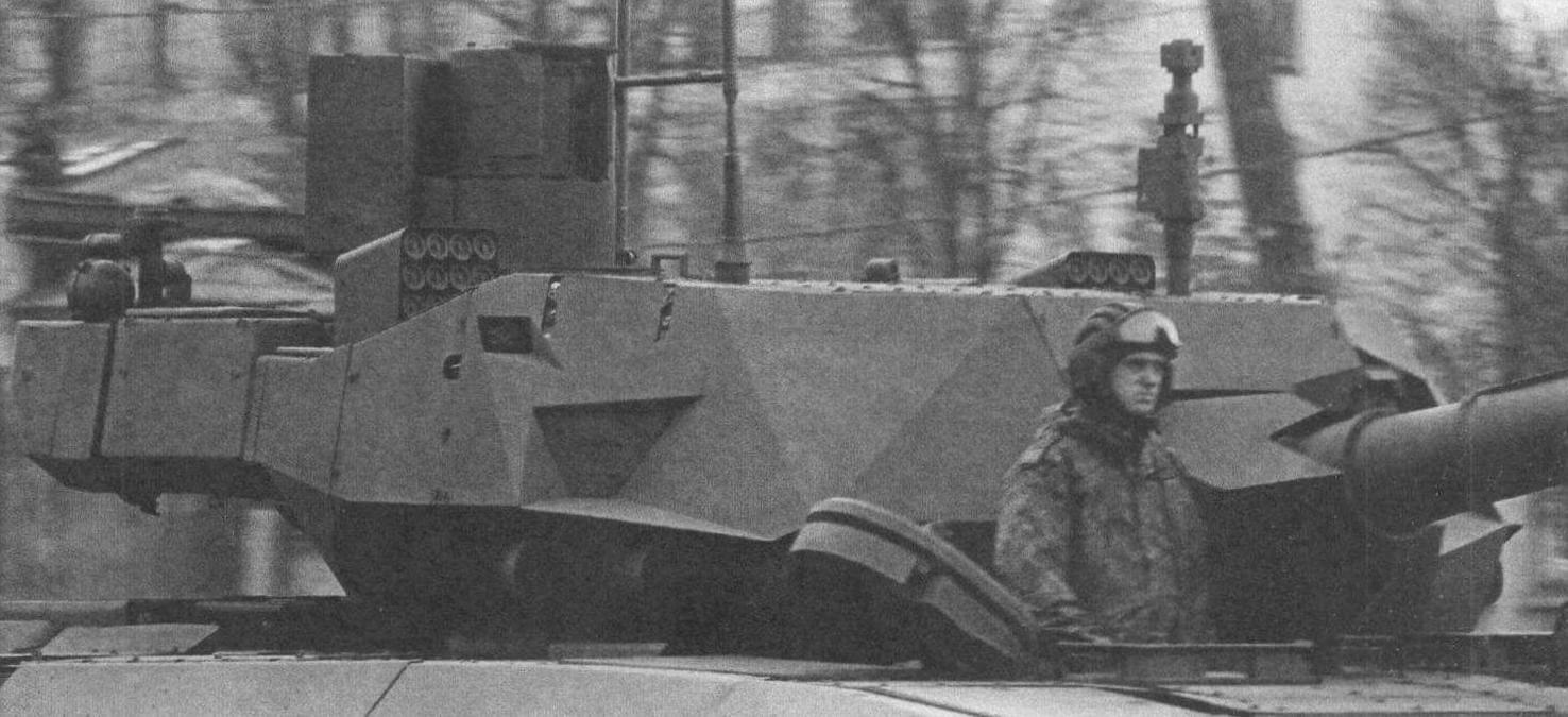 Вид на башню танка Т-14 крупным планом