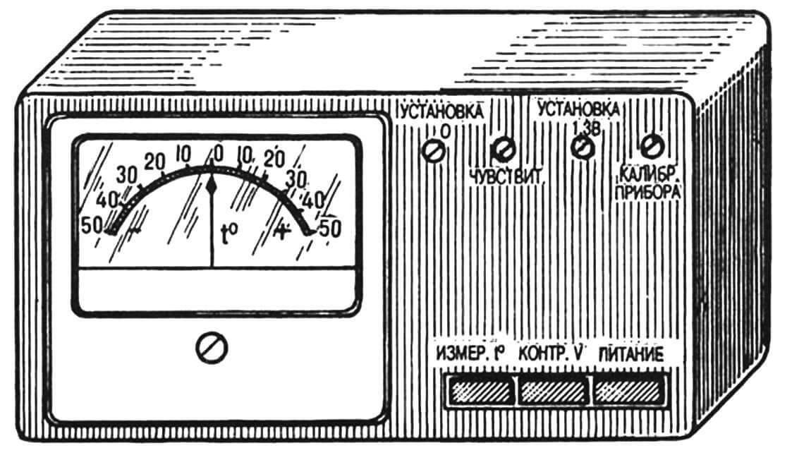 Универсальный электронный термометр (без термодатчика).