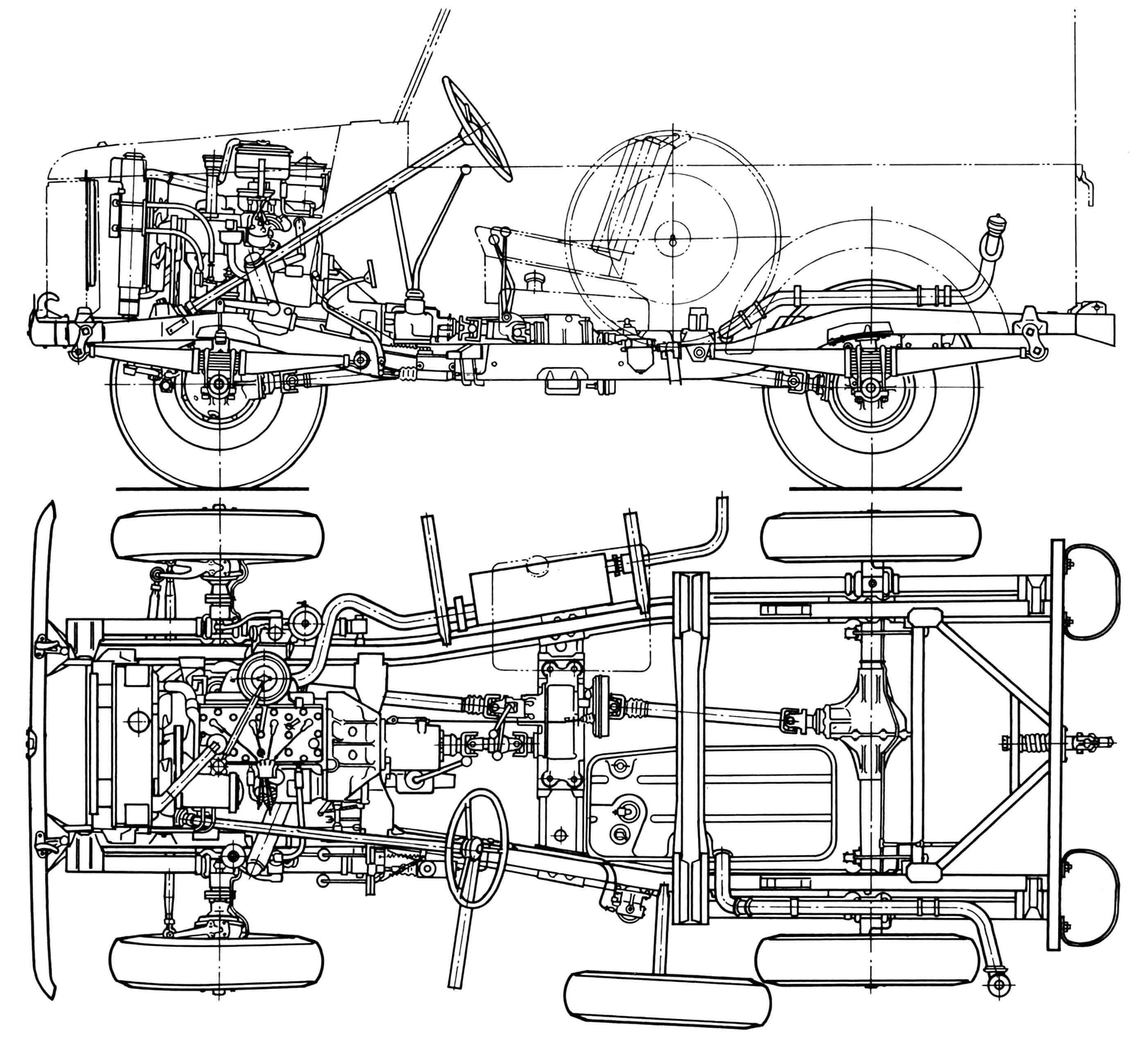 Шасси автомобиля ГАЗ-69.