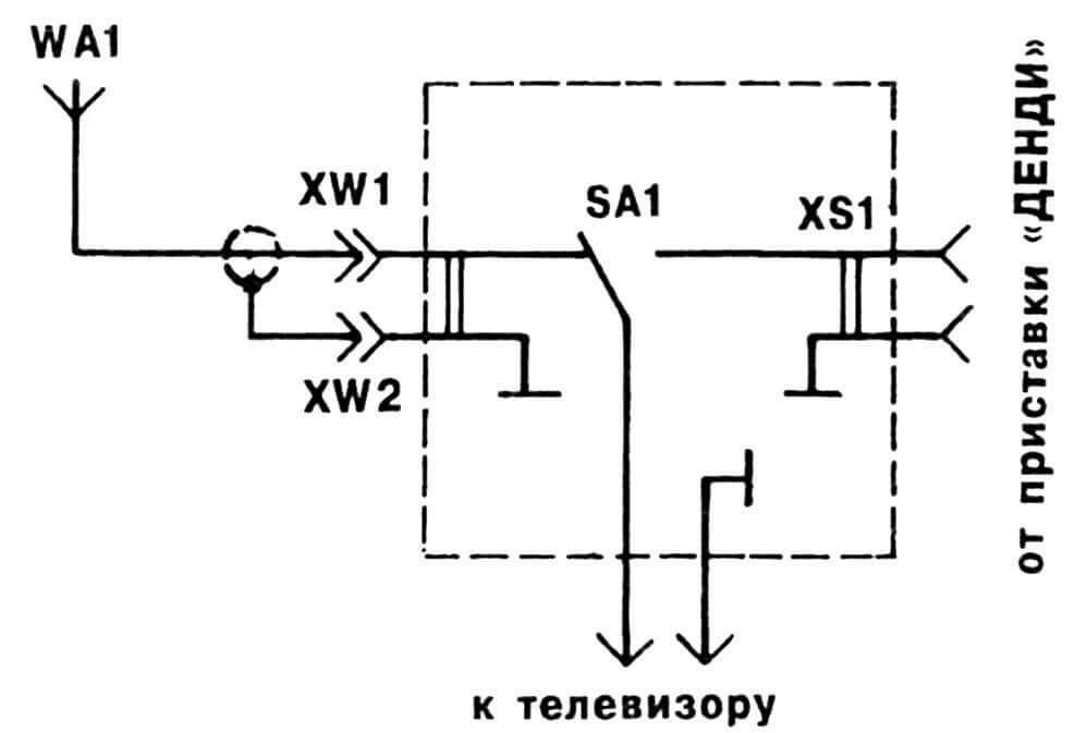 Рис.2. Схема самодельного коммутатора.