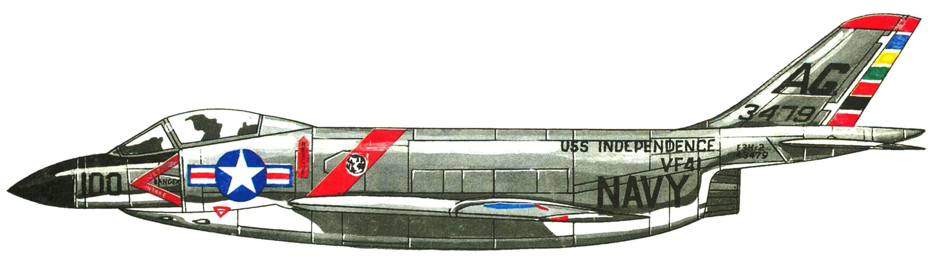 F-3В эскадрильи VF-41 «Black Aces» авианосец «Independence», 1959 г.