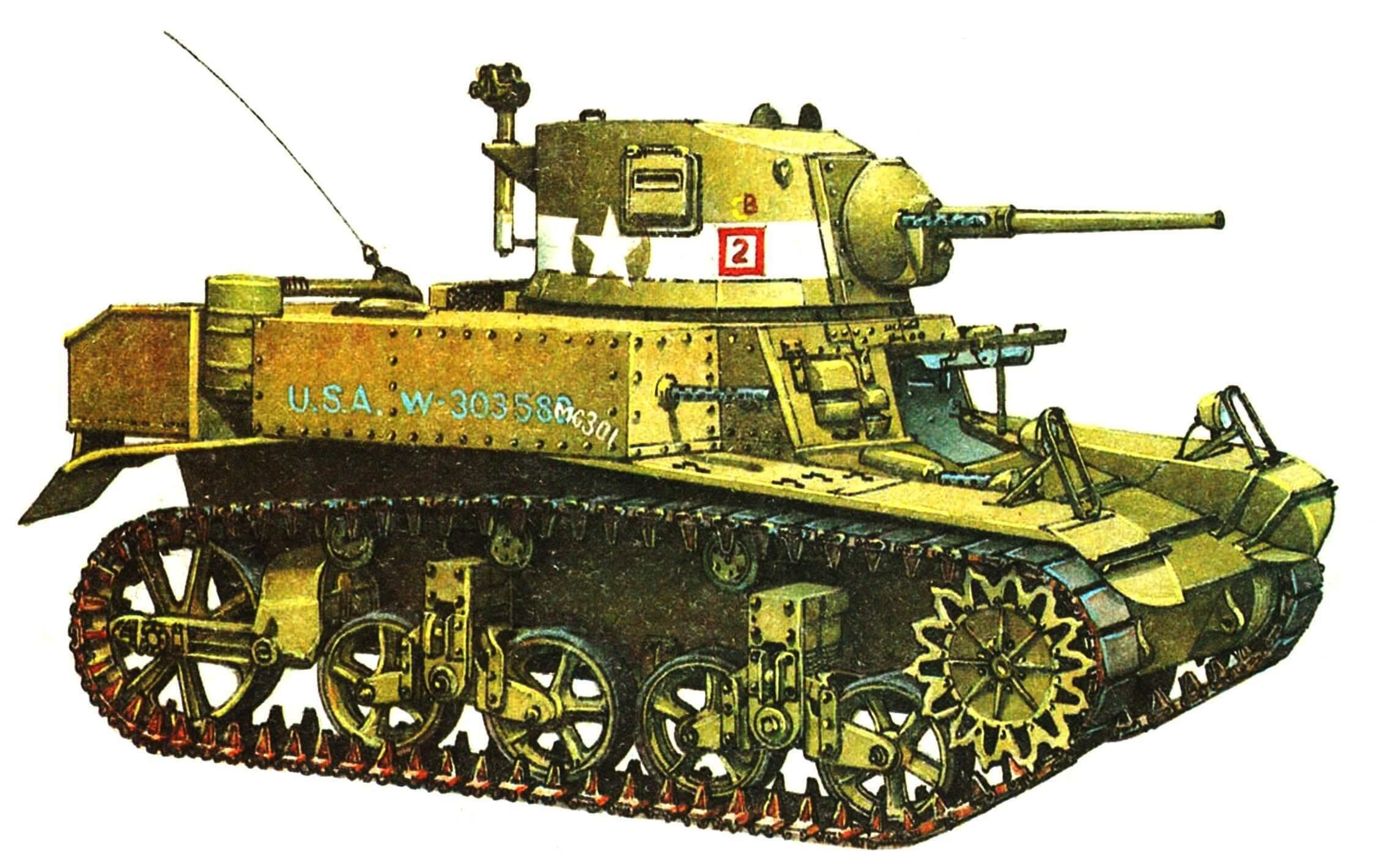 Легкий танк М3А1 (Diesel). Рота «С», 1-й танковый батальон морской пехоты. Гвадалканал, декабрь 1942 года.