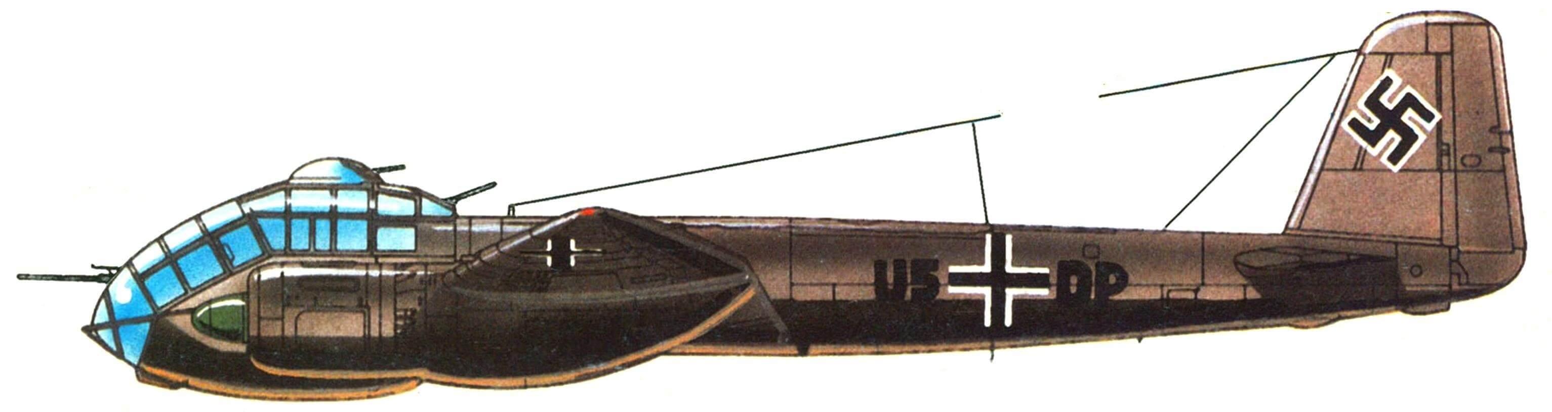Junkers Ju 188А-1, эскадра KG2, 1943г.