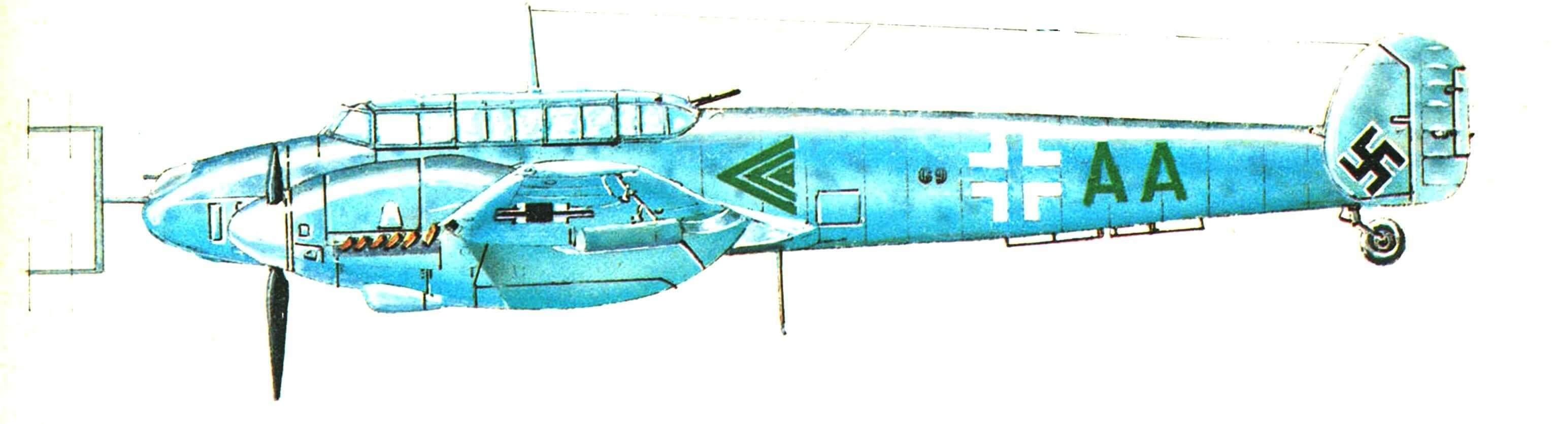 Messerschmitt BF 110 D-0, нa котором летал генерал Эрнст Удет.