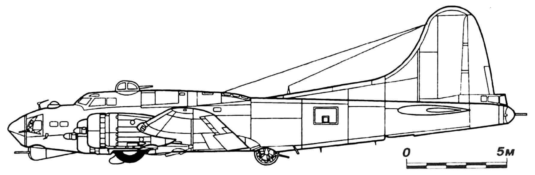B-17G с хвостовой башней Cheyenne