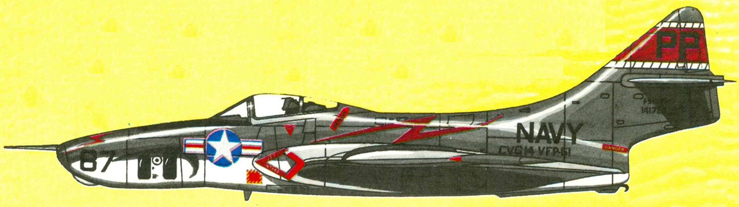 Разведчик RF-9J эскадрильи VFP-61, авианосец Hornet, 1957 г