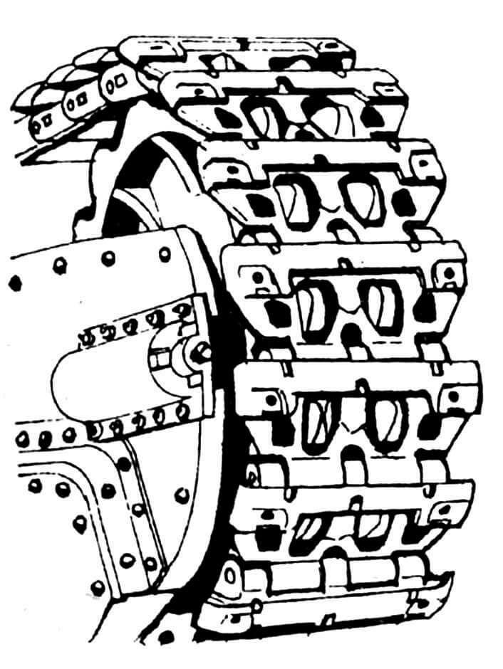 Направляющее колесо с натяжным механизмом.