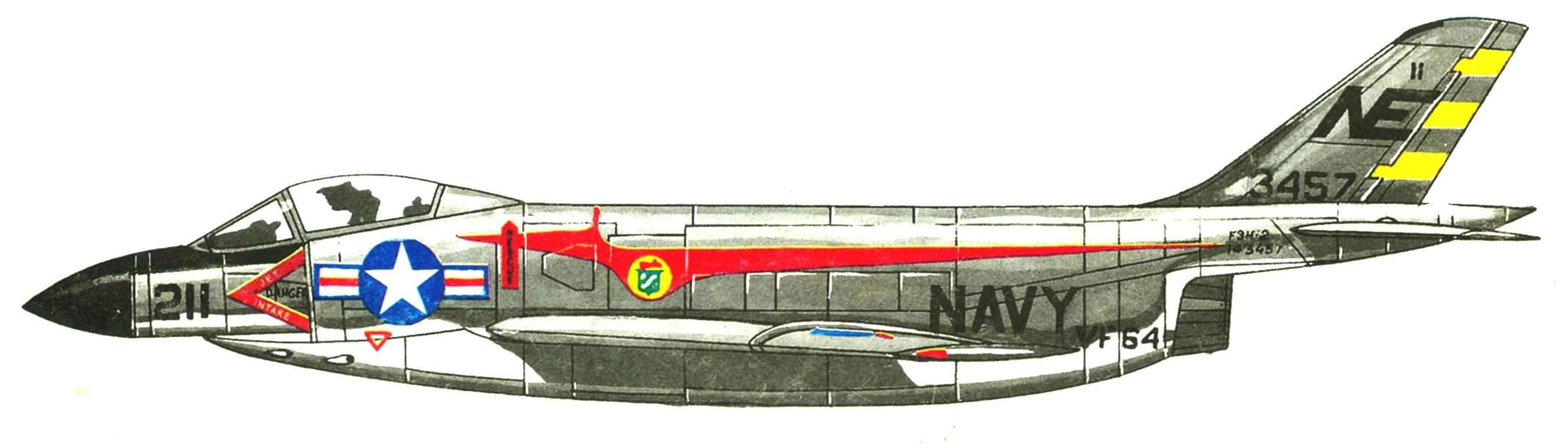 F-3В эскадрильи VF-64 «Freelancers» авианосец «Midway», 1958 г.