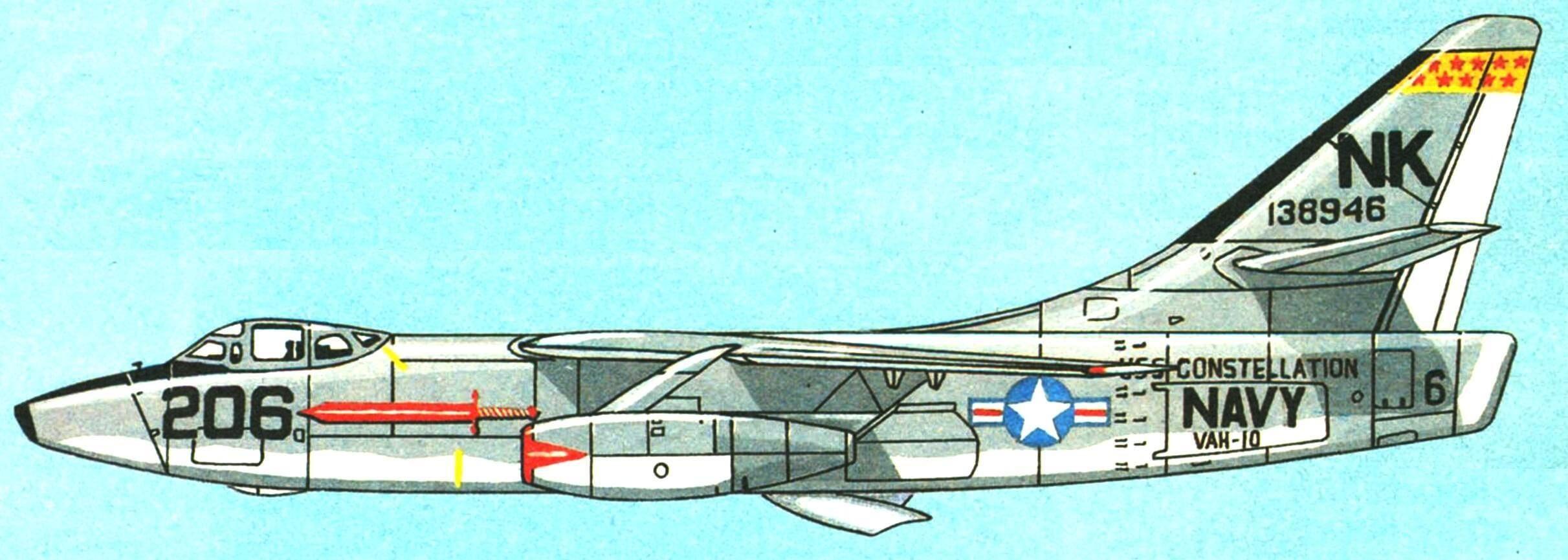 Заправщик КА-3В эскадрильи VAH-10, авианосец «Constellation», 1962 г.