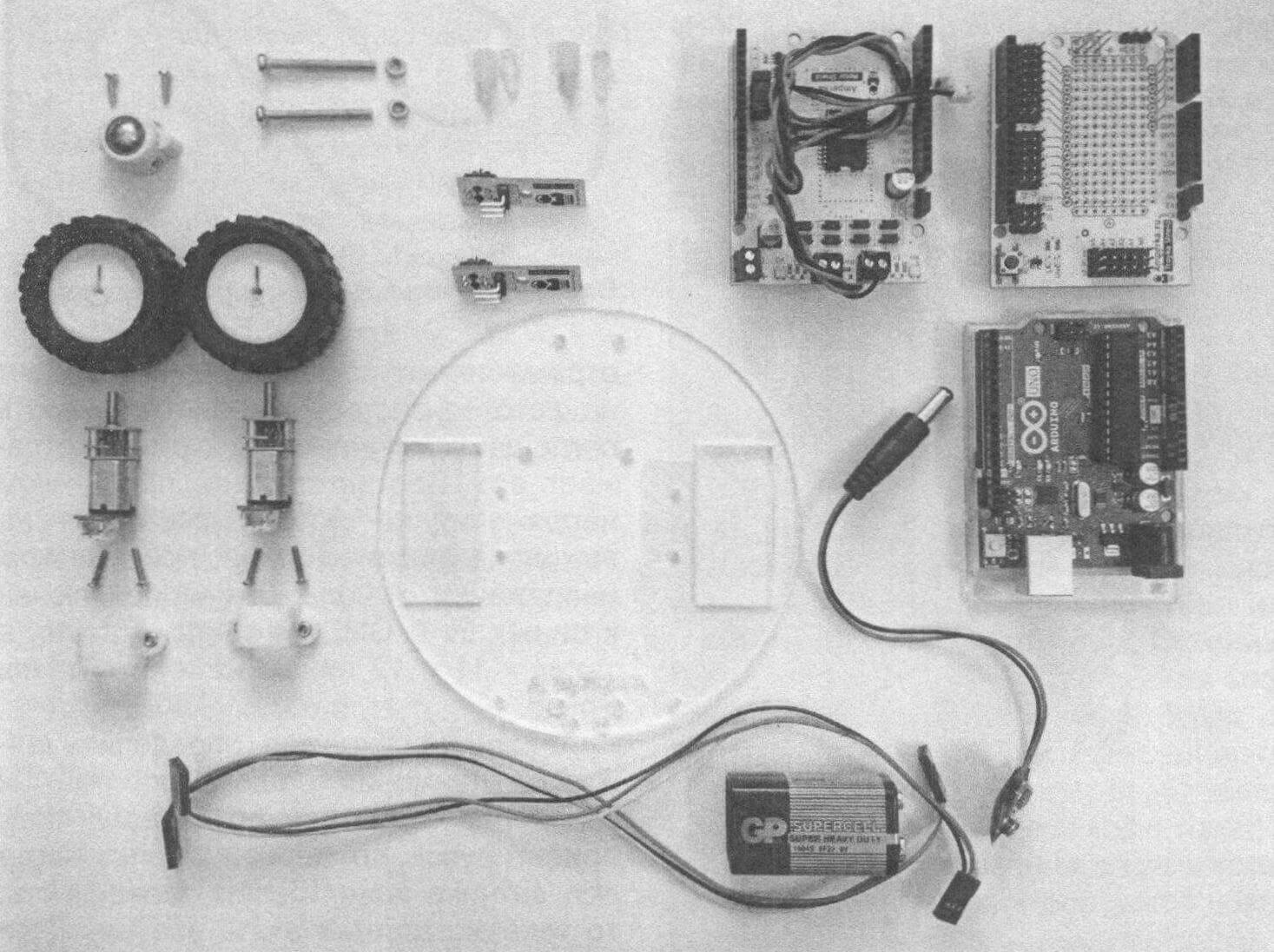 Компоненты для сборки простой робото-тележки