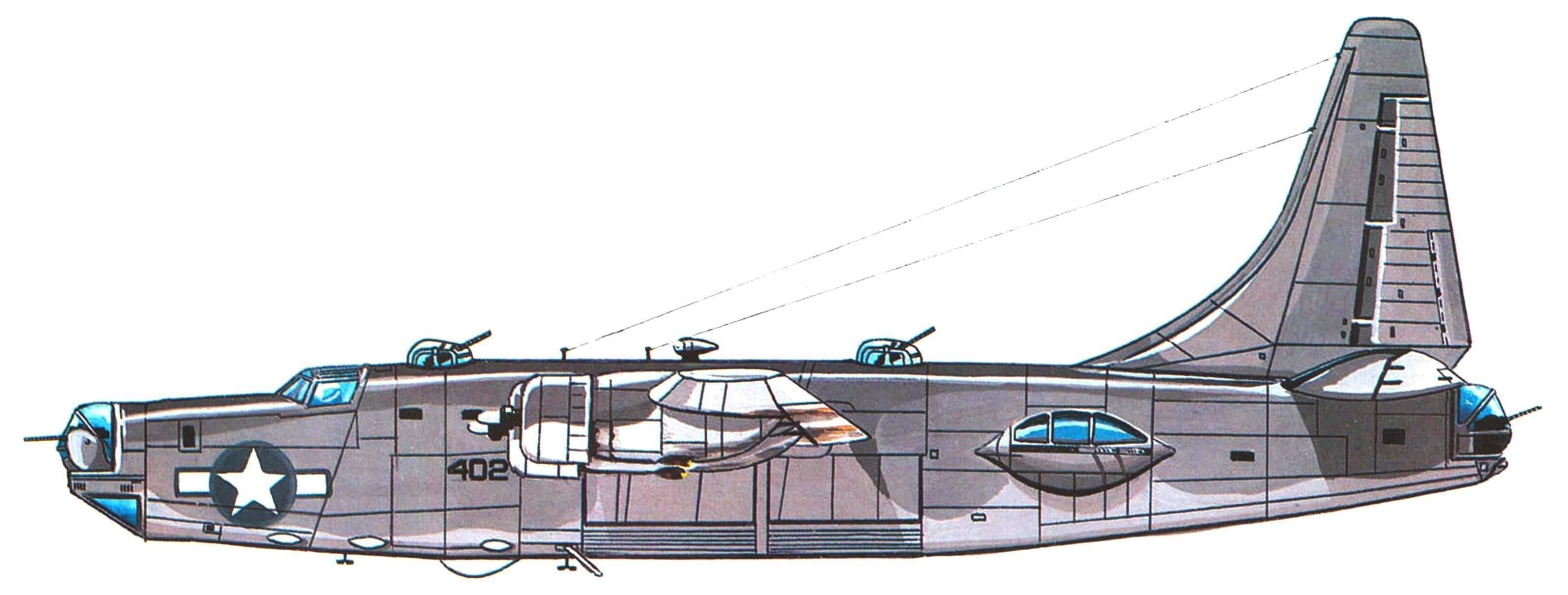 """PB4Y-2 """"Приватир"""" эскадрильи VPB-118 Иводзима, март 1945 года."""