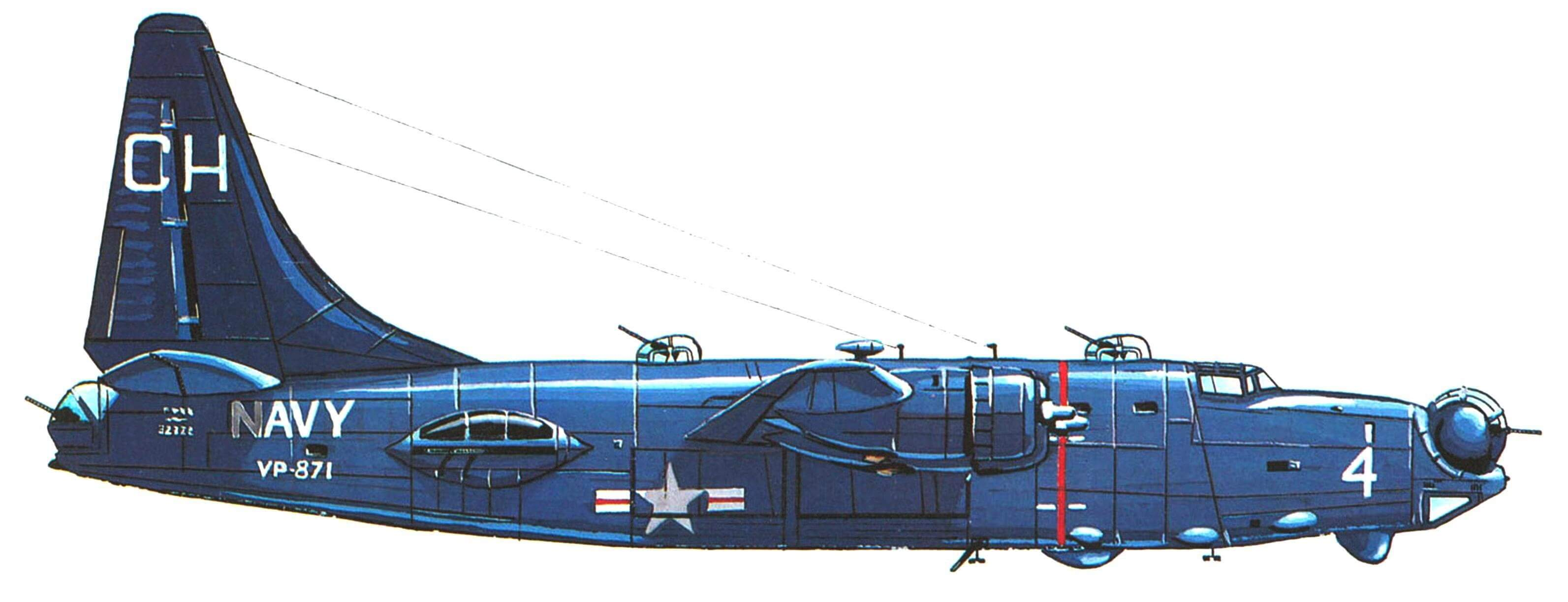 "PB4Y-2 ""Приватир"" эскадрильи VP-871, авиабаза Кимпо. Корея, 1951 год."
