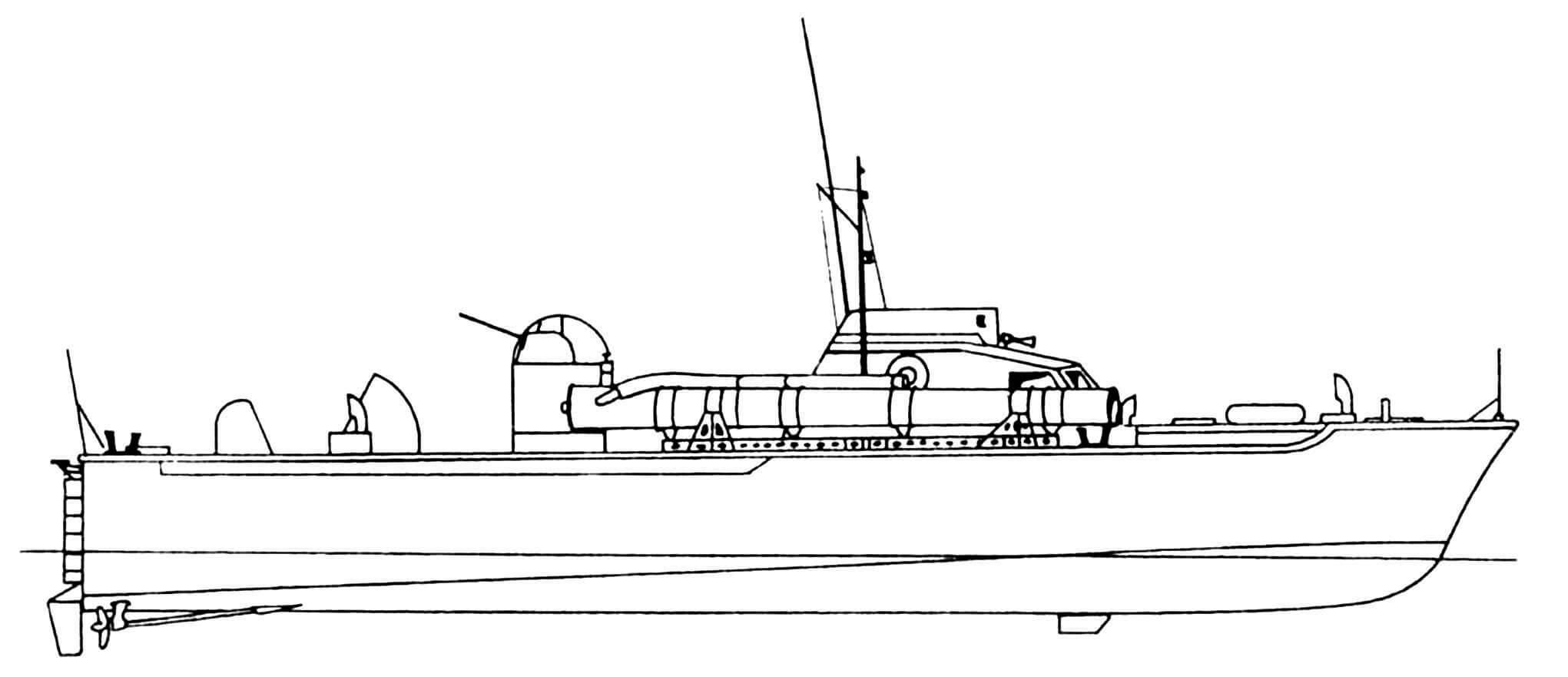 Торпедный катер ТК-224 («Воспер» первой серии, строившийся по заказу Великобритании).