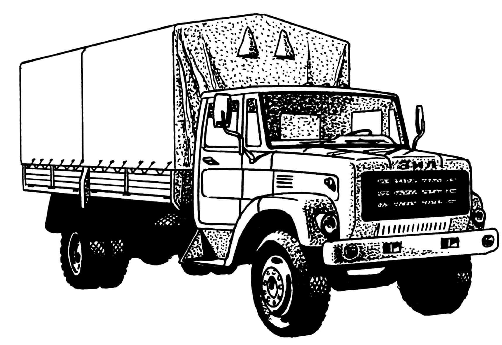 Один из первых вариантов автомобиля ЗИЛ-4331.