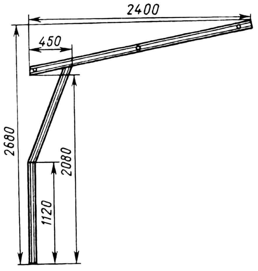 Направляющие (швеллер 65x36).