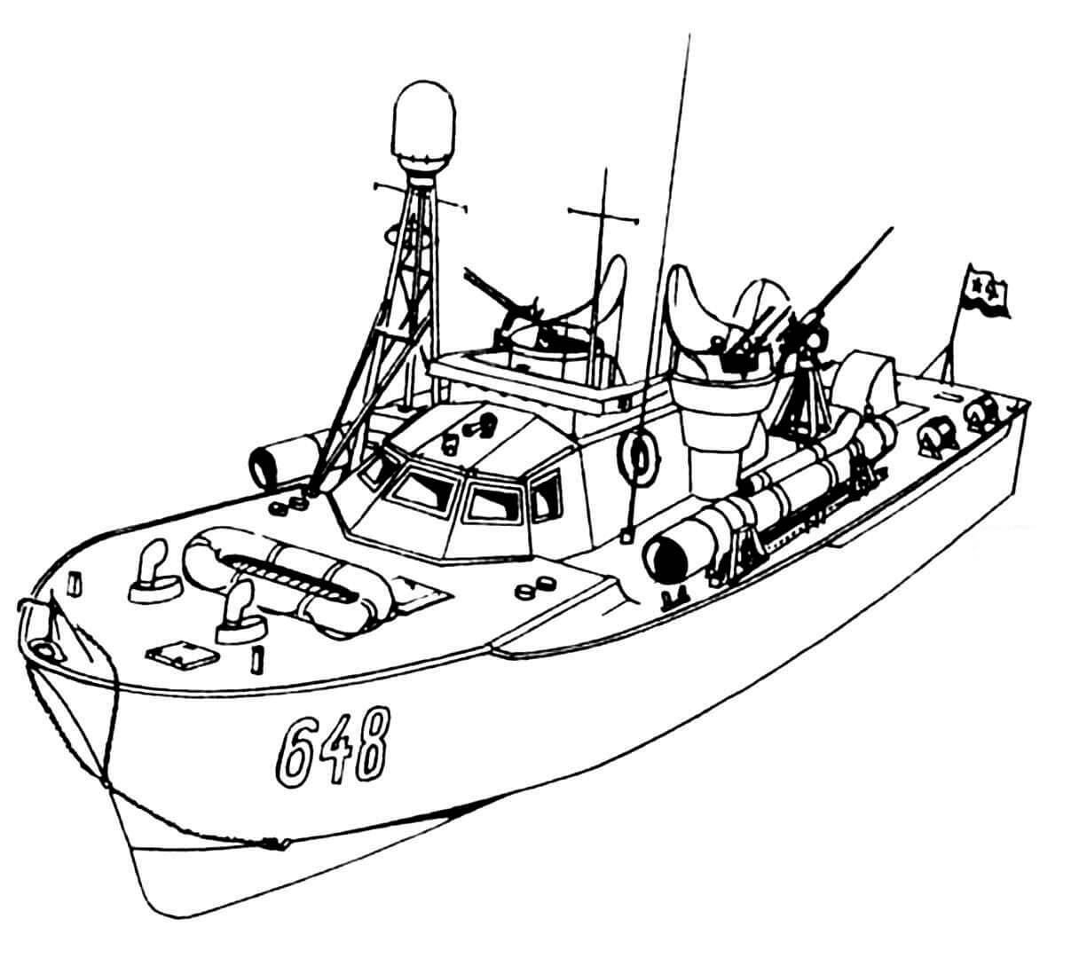 Торпедный катер ТК-272. (Бортовые номера на корпусе появились в послевоенный период).