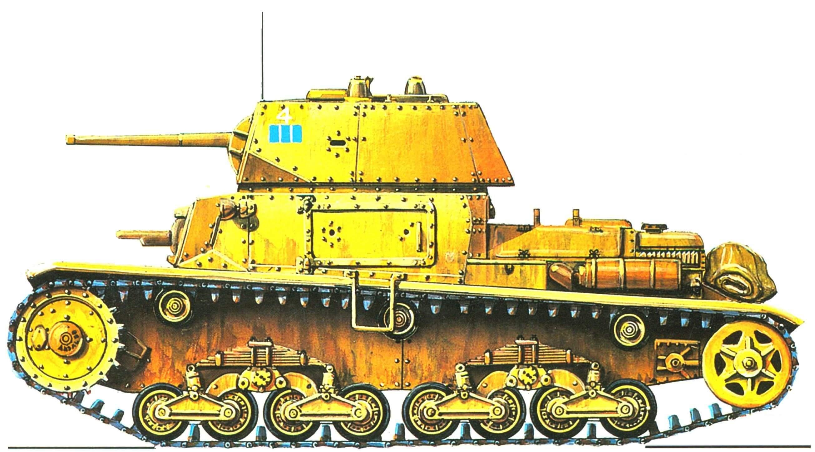 Carro Armato М13/40. 2-й взвод 2-й роты 1-го батальона 132-го полка танковой дивизии «Ариете» (Ariete), 1942 год.