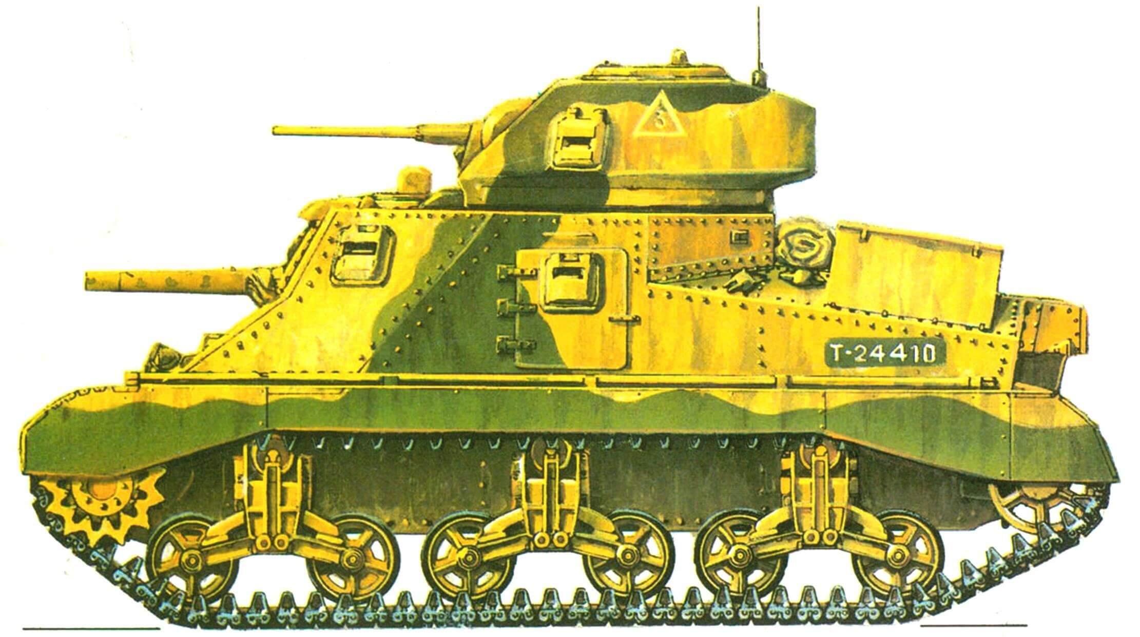 Grant I. 1-я танковая дивизия (1st Armoured Division) 8-й английской армии, Северная Африка, 1941 год.