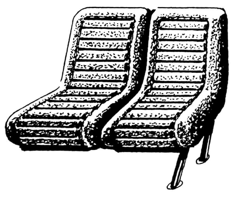 Один из вариантов пассажирского сиденья.