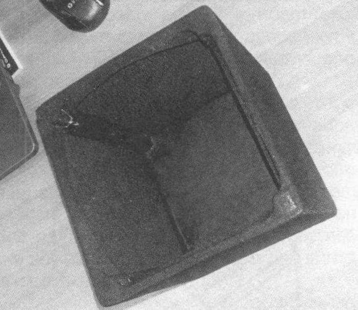 Каркас колпака обтянут черным капроном средней плотности