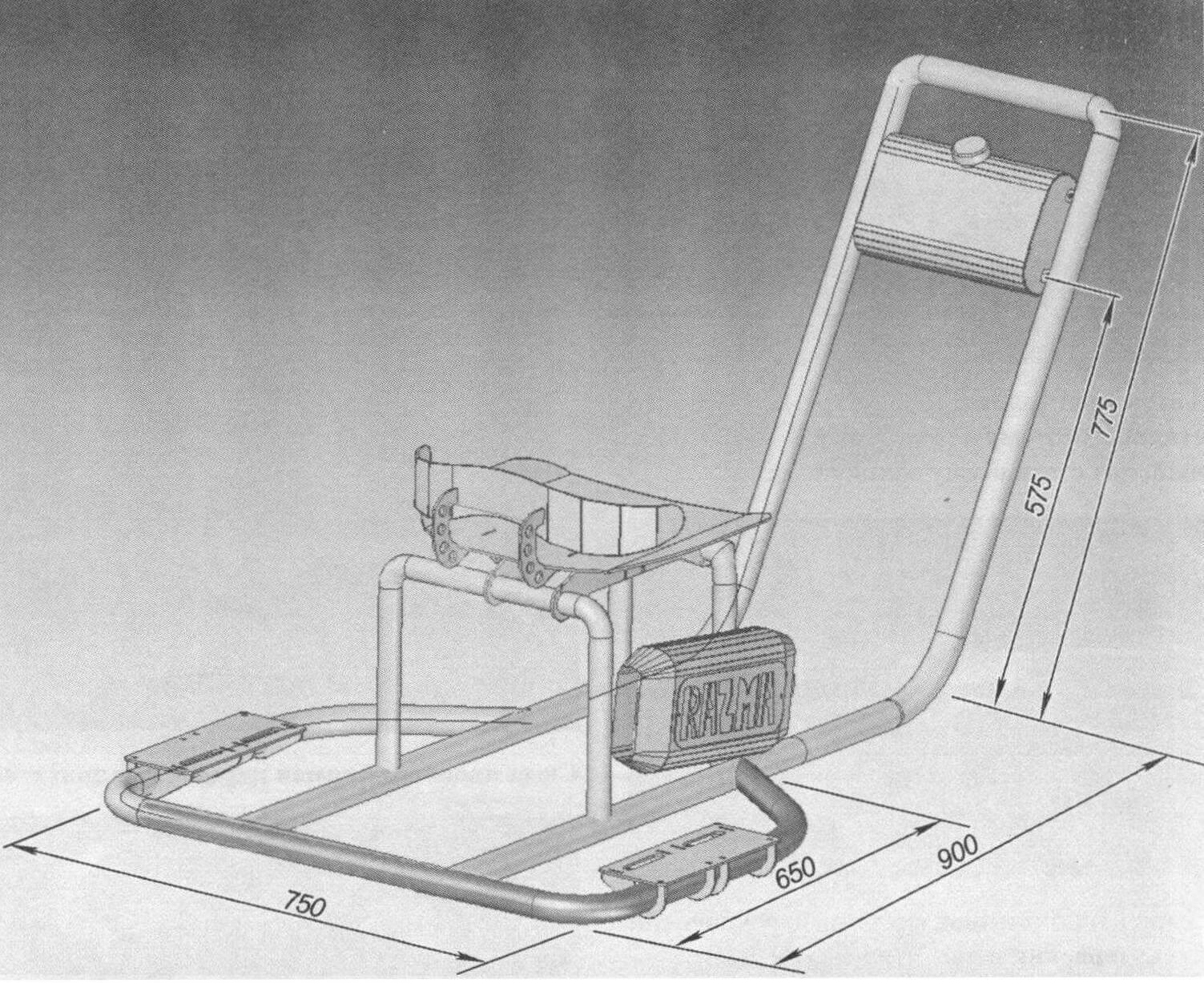 Рама машины была смоделирована и рассчитана на компьютере