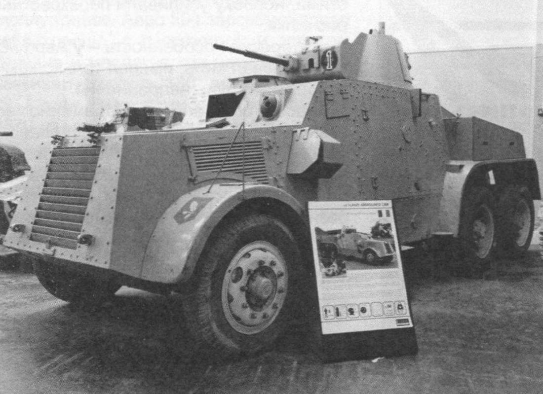 БА «Лейланл» ZC 774 в танковом музее в Бовингтоне