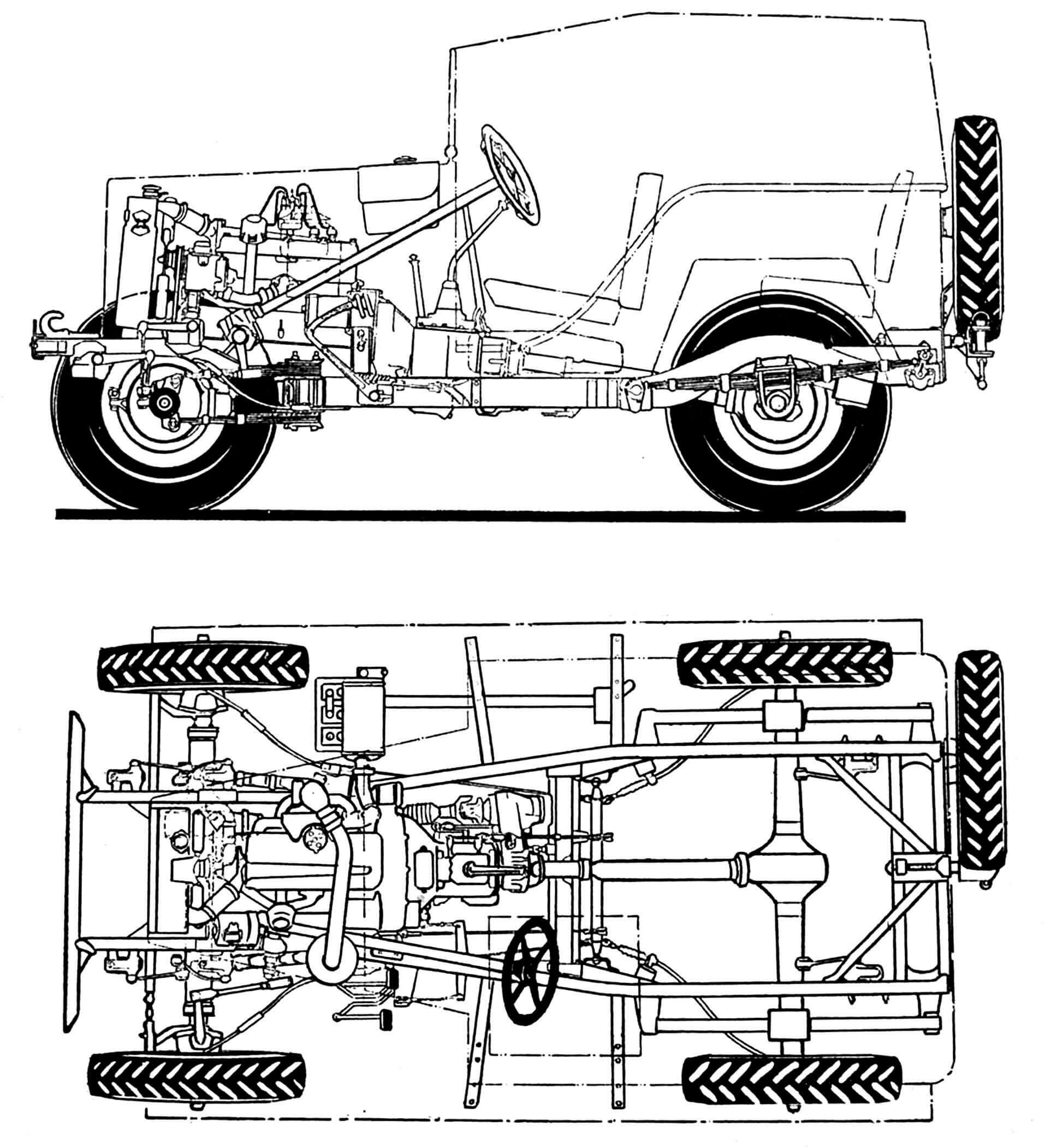 Шасси автомобиля ГАЗ-67Б