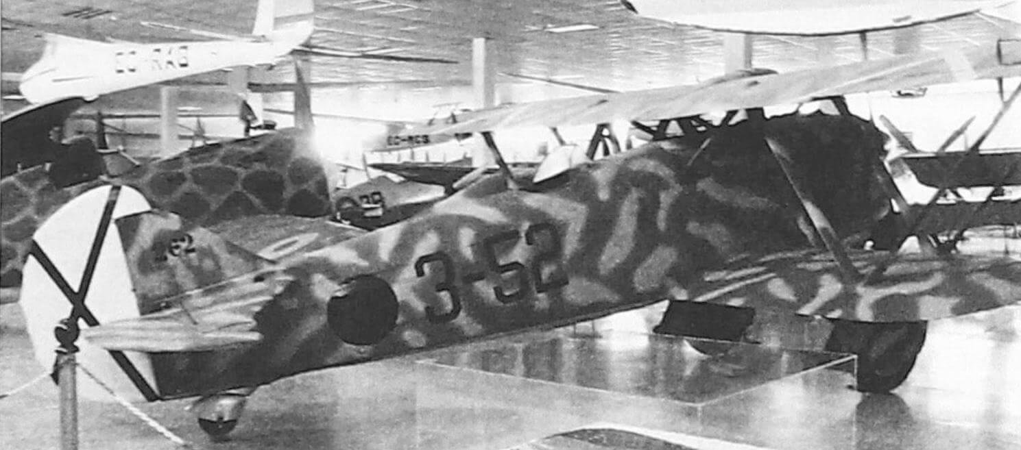 Итальянский истребитель-биплан CR.32, построенный в Испании