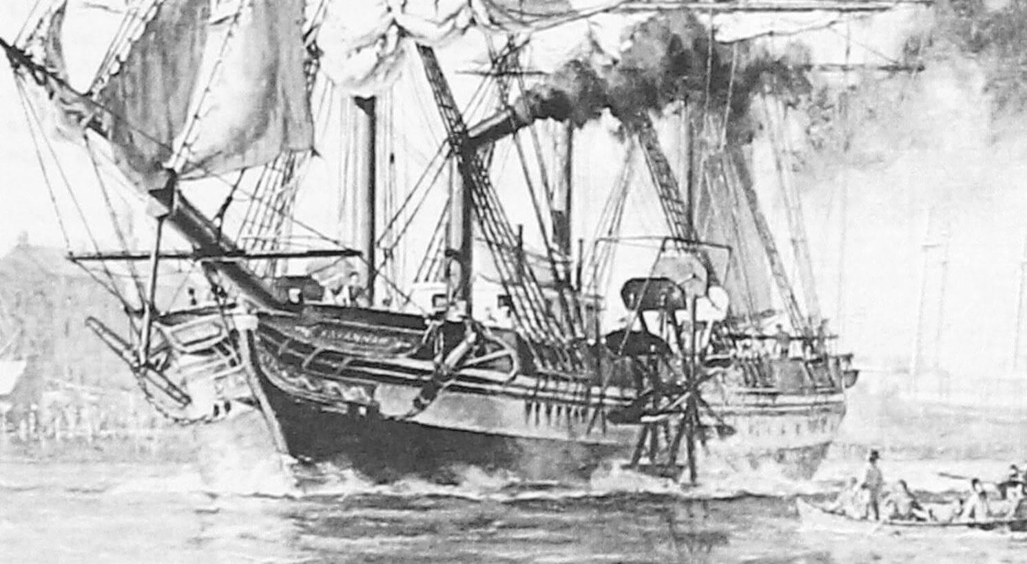 В конце второго десятилетия XIX века пароходы еще оставались «чудом техники», а потому во всех портах к «Саванне» проявляли немалый интерес