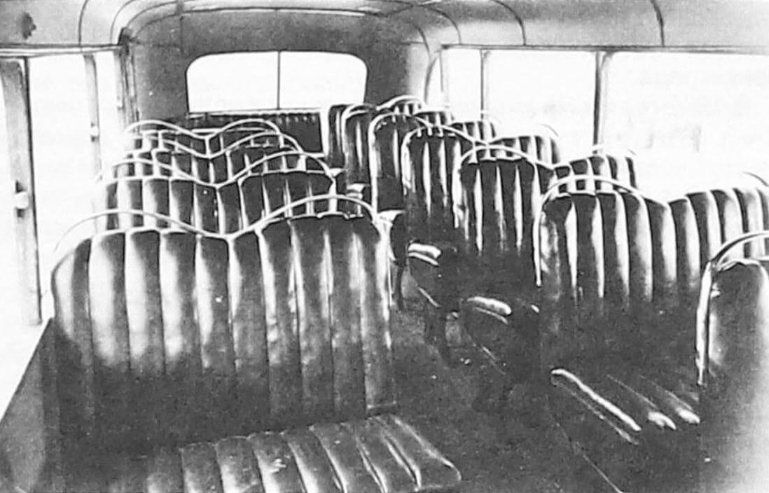 Салон автобуса Л-1 (фото предоставлено ООО «ТД «СПАРЗ»)