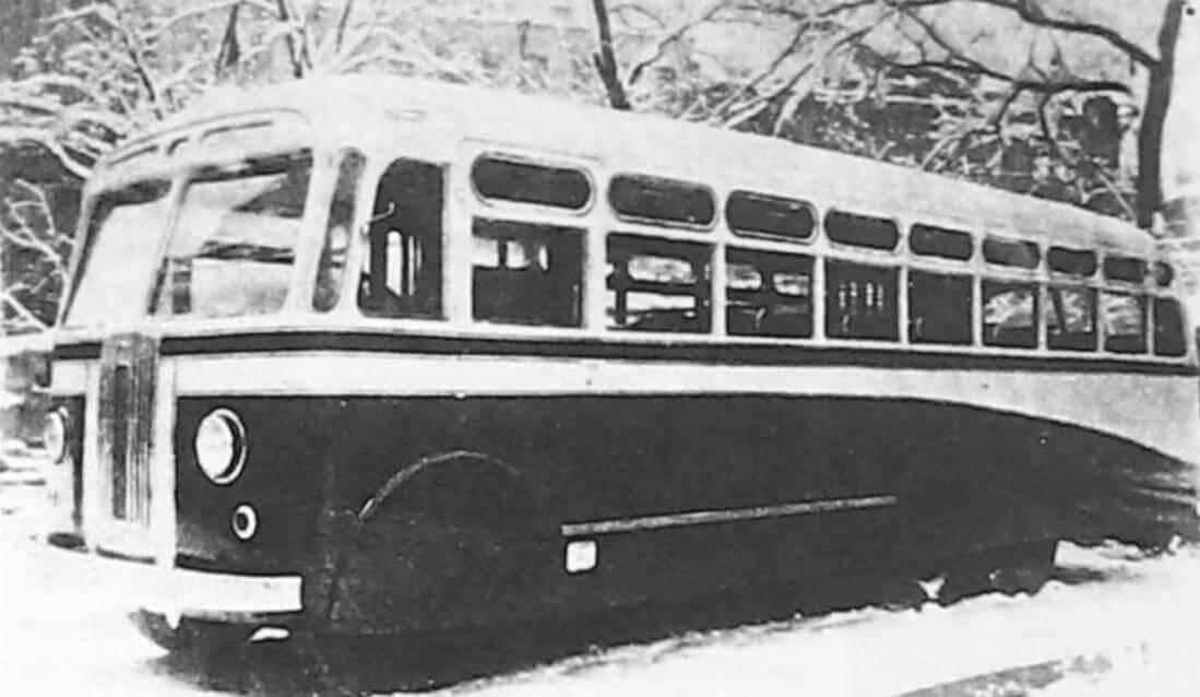 Автобус Л-3, Ленинград, около 1950 года (фото предоставлено ООО «ТД «СПАРЗ»)