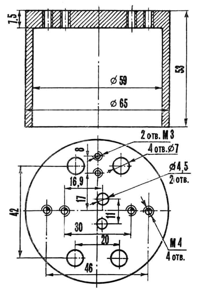 Рис. 3. Цилиндрический радиатор.