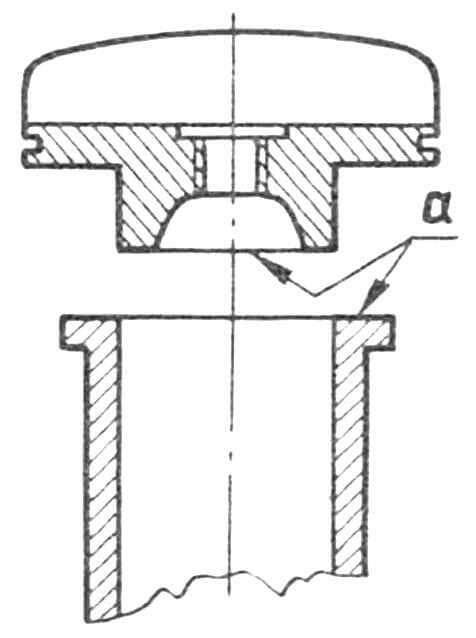 Рис. 3. Доработка гильзы цилиндра и головки цилиндра для повышения степени сжатия (а — обрабатываемые поверхности).