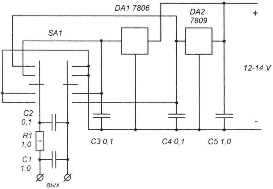 Принципиальная схема ступенчатого регулятора скорости