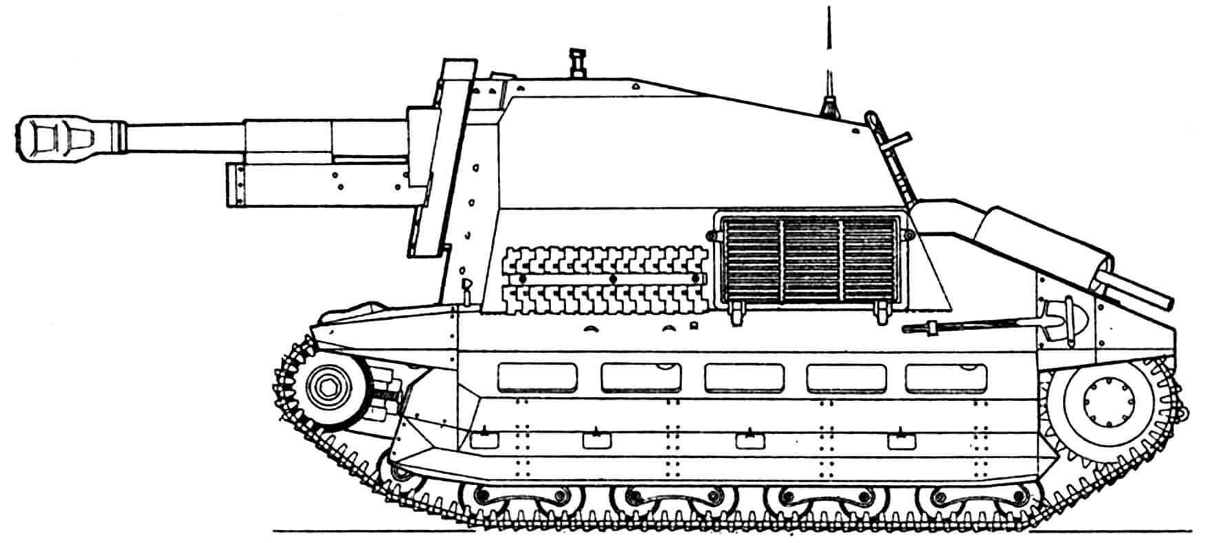 10,5-cm leFH(Sf) на базе танка FCM