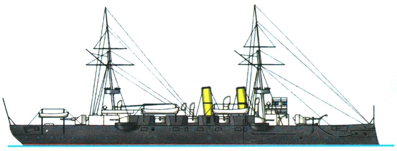 Броненосный крейсер «Австралия» (Англия, 1888 г.)