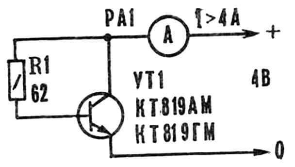 Рис. 4. Схема для подбора выходных транзисторов.