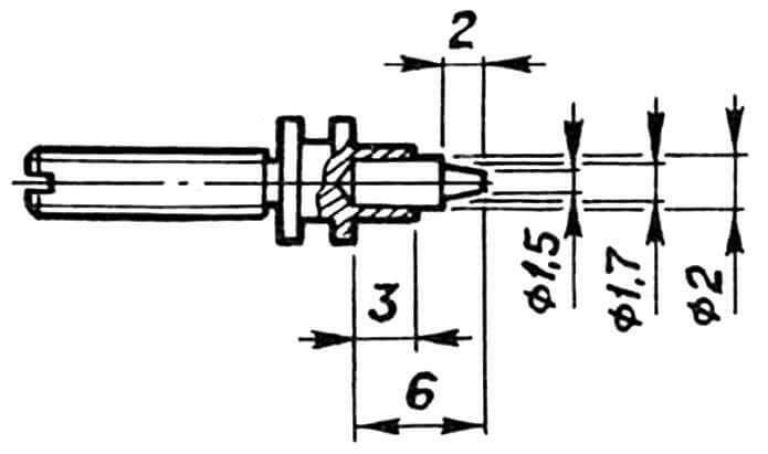 Рис. 4. Доработка трубчатой насадки по второму варианту модернизации двигателя.